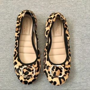 Me Too Hairy Leopard Print Flats